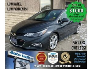 2017 Chevrolet Cruze Premier* Leather Int/Apple CARPLAY/REMOTE START