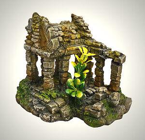 Terrarium Deko.Details Zu Aquarium Deko Tempel Ruine Asien Höhle Terrarium Dekoration Zubehör