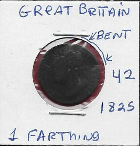 GREAT-BRITAIN-1-FARTHING-1825-GEORGE-IV-BRITANIA-SEATED-RIGHT-LAUREAT-HEAD-LEFT