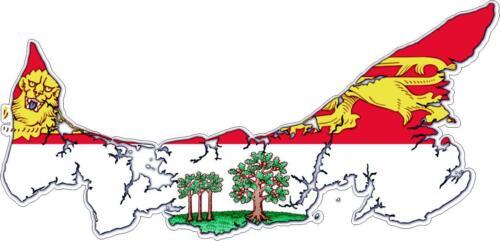 Sticker car moto map flag vinyl outside wall decal prince edward island canada