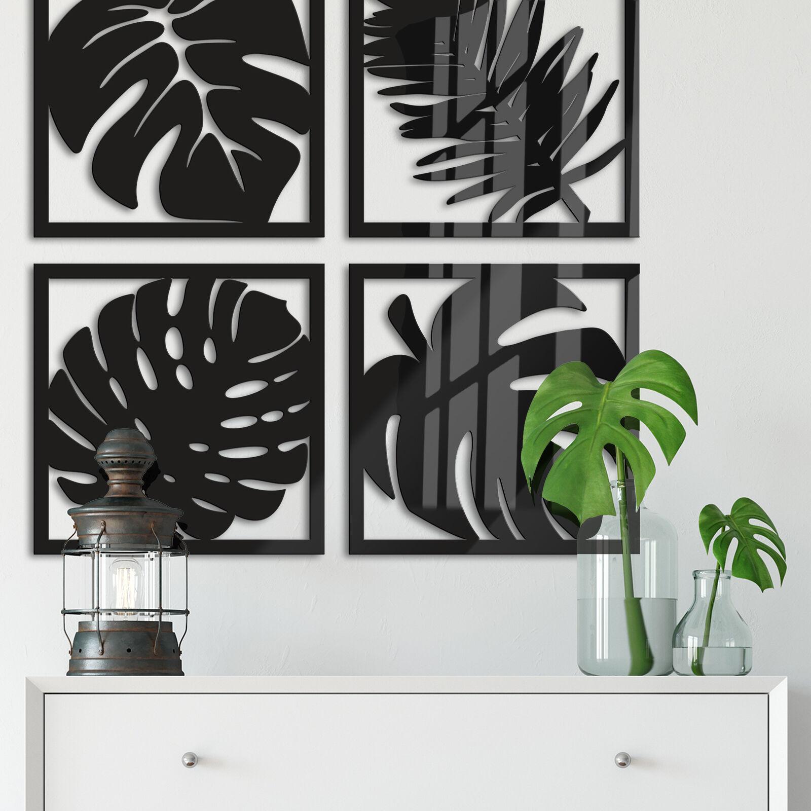 Acrylbuchstaben - Blätter Tropical Set DEKOELEMENT Wohnaccessoires Wanddeko