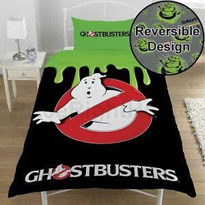 Ghostbusters-Housse-Couette-Simple-et-Set-Taie-D-039-Oreiller-Enfants-Officiel-Neuf
