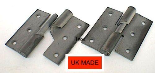 "Rising Butt Hinges 75mm 3"" Left Hand pk2 sherardized inc screws UK made c detail"