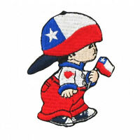 Chile Little Boy Country Flag Iron-on Patch Crest Badge Size: 3 X 2 Inch ..