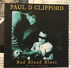 Paul-D-Clifford-Bad-Blood-Blues-CD-Original-Australian-LoFi-Blues-Guitar
