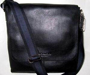 94860bb44e22 Coach Sullivan F72108 Men s Messenger Bag Black Leather New NWT  375 ...