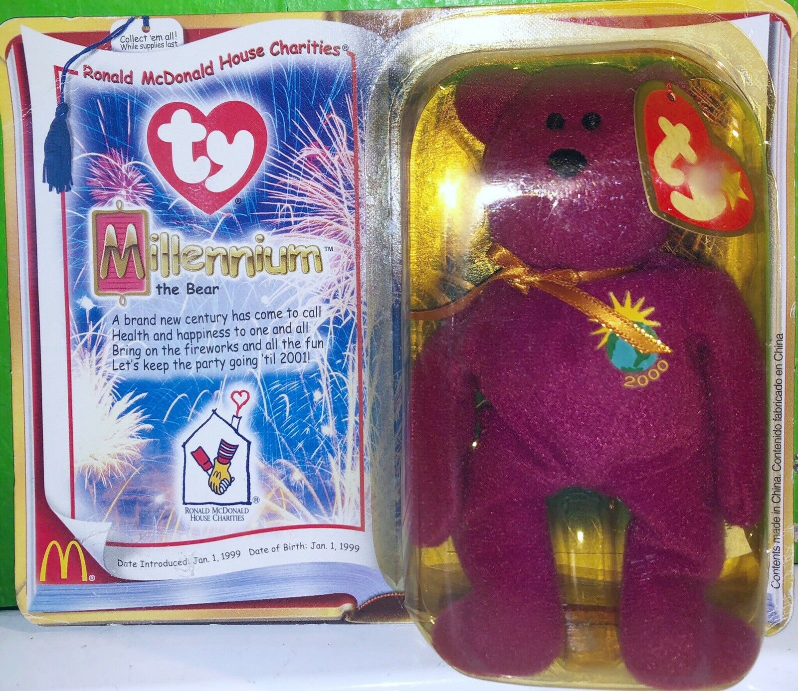 NEW STILL IN BOX Ty Beanie Baby 2000  Millennium