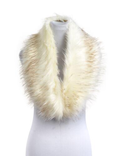 NUOVA Donna Donne Fluffy Invernali in Pelliccia Sintetica Colletto di Natale sciarpa scialle Wrap Stola