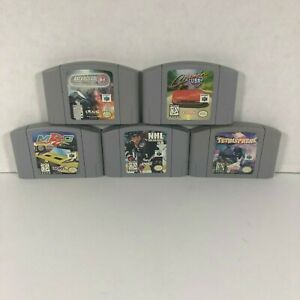 Lot-of-5-Nintendo-N64-Games-Cartridge-Only-Tested-Cruisin-USA-Asteroids