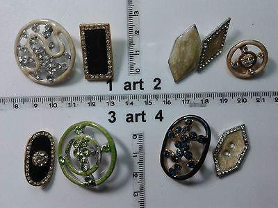 1 Lotto Bottoni Gioiello Smalti Pietre Vetro Murrine Buttons Boutons Vintage G3 Carino E Colorato
