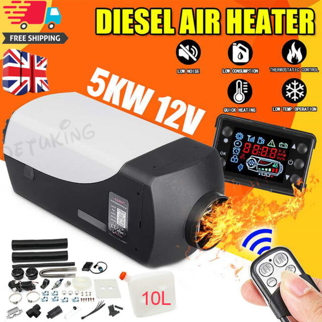 12V Air Diesel Night Heater 5KW LCD Monitor Remote Silence Trucks Boats Car home