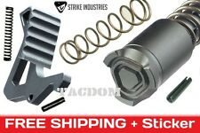 Strike Industries GREY LINE Enhanced Top kit Lever + Bolt Button parts build upr
