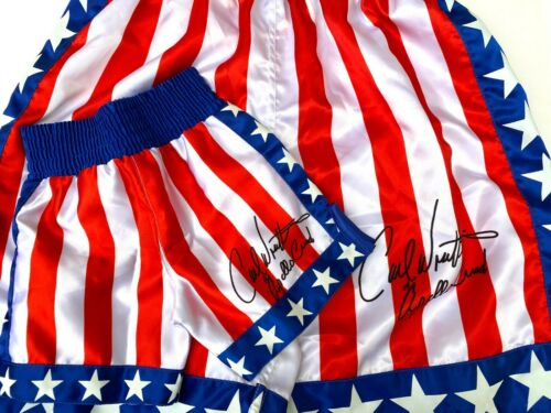 12 18 /& 24 Month old Babies Autographed Baby Boxing Shorts Apollo Creed  for 6