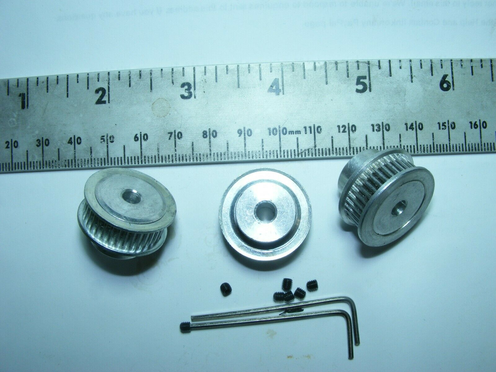QTY3 PULLEY ALUMINUM 36T 5MM GT2 6MM 1.5MM SCREW WRENCH 3D PRINTER USA FREESHIP