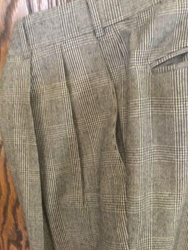 Berle Wool Plaid Pants 38-32 , EUC, Glenn Plaid