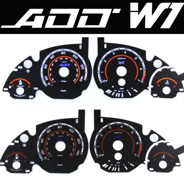 ADD W1 V1 Gauge Overlay for Bmw cluster gauge E39, 5, 7 Series E38, X5 E53 E60