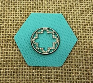 Authentic Origami Owl Large Silver Moroccan Window Plate - New