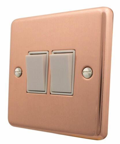 G/&h norme CBC2W plaque lumineux cuivre 2 Gang 1 ou 2 Façon Rocker Interrupteur De Lumière