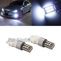 High Power White 3156 3157 15-SMD-3528 LED Car Daytime Running Canbus Bulbs 2x