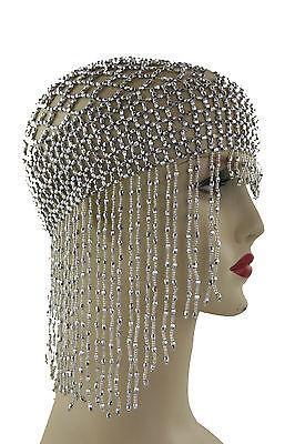 Kopfschmuck Bauchtanz Bollywood Karneval Fasching Orient Haarnetz Kappe - BM0049