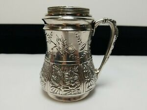Antique Quadruple Plate Muffineer Sugar Shaker Pairpoint MFG #2556 Floral USA