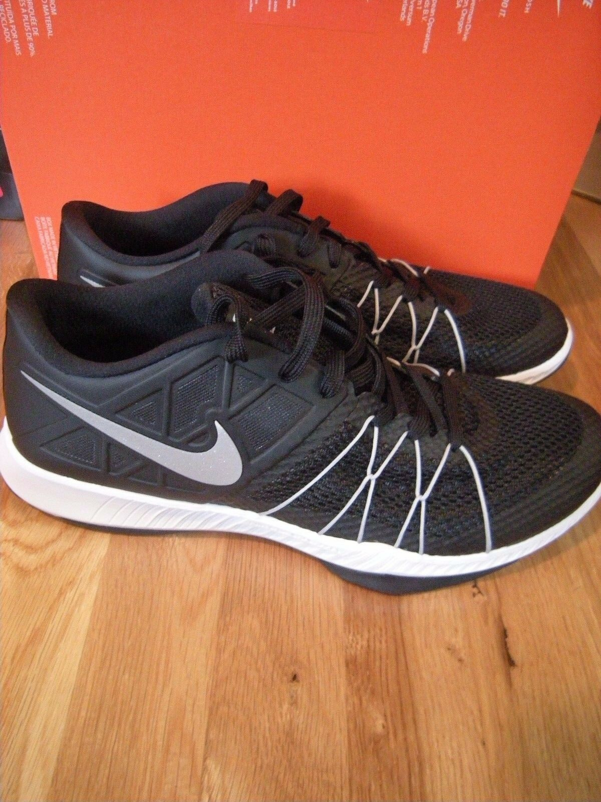 Brand New Mens Black & White Nike Zoom Train Incredibly Fast Shoes, Size 11.5
