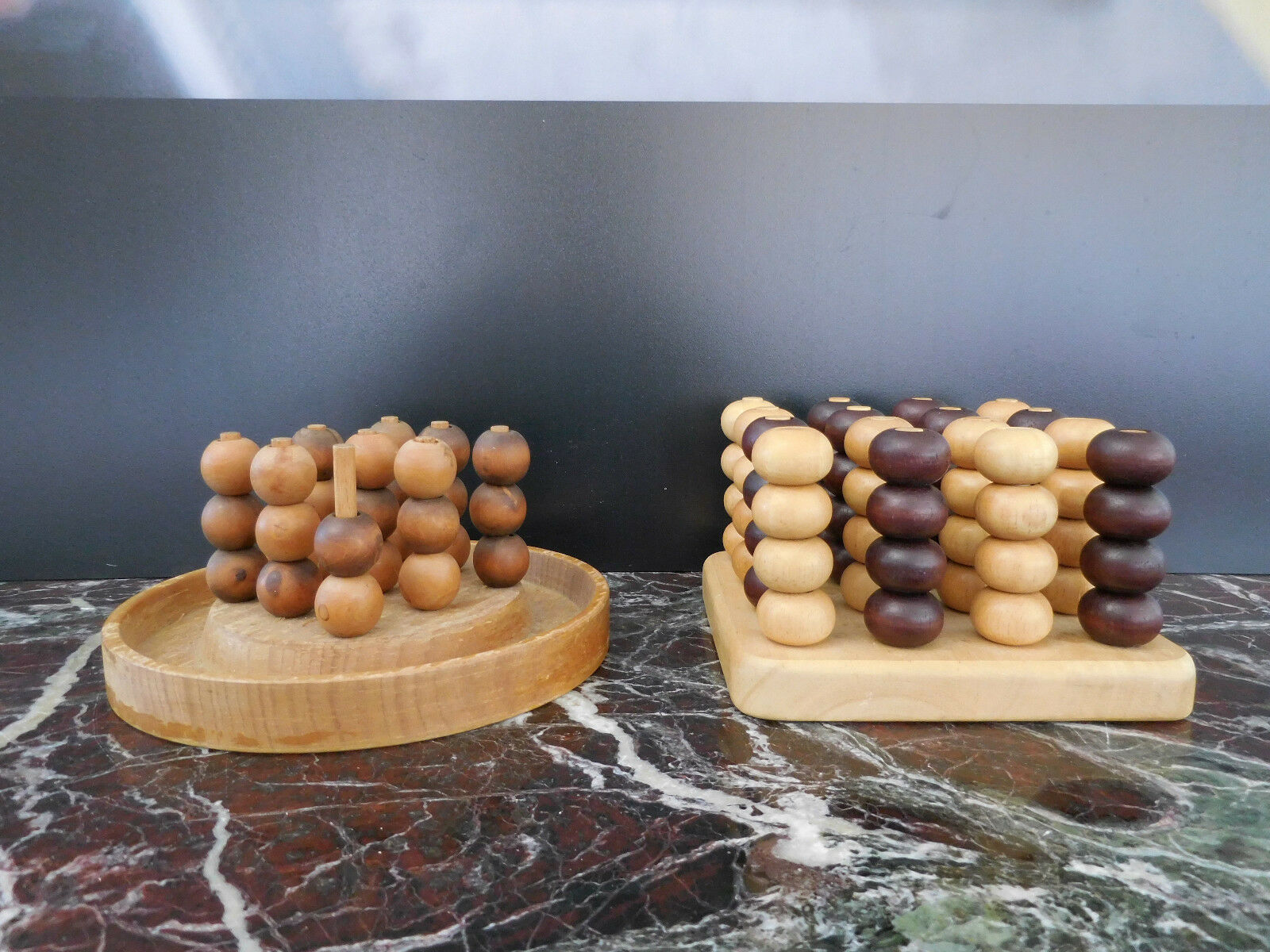 Jeux de stratégie du morpion 3D en bois CURIOSITY by PN