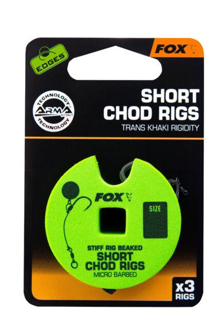 5 30lb Rigidity Fox Edges Short Chod Rigs Gr