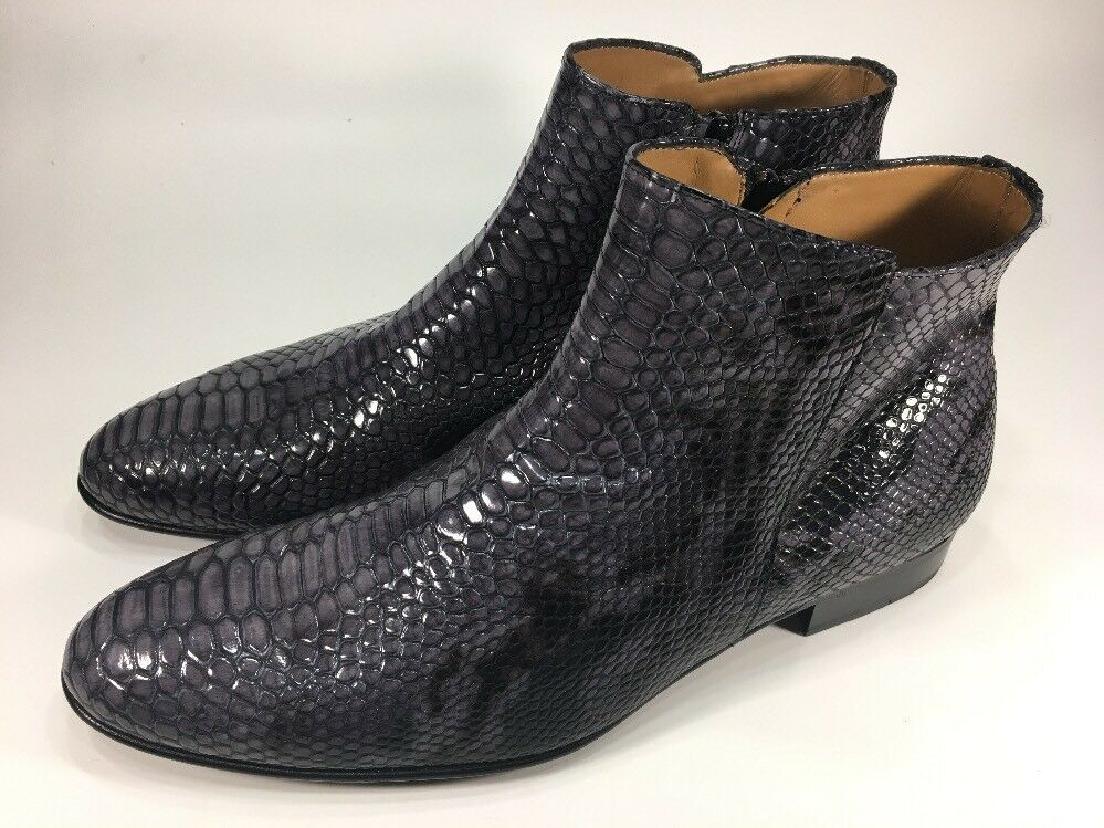 Philippe Zoretto New  Snake Skin Ankle Dress Boots Mens Size 11.5 M (EU45)