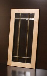 Details About Kraftmaid Kitchen Natural Maple Glass Door 4 Corner /15x30 /  30x30 Wall Cabinet