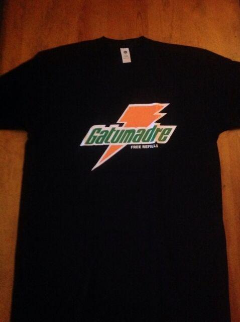 Gatumadre Funny Mexican 100% Cotton Black Graphic Shirt Mexico Parody Chiste