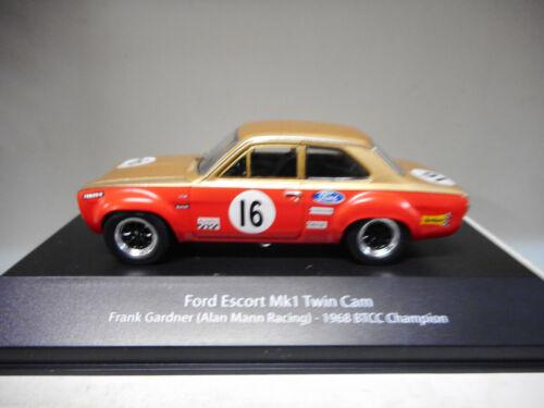 FORD ESCORT MK1 F.GARDNER 1968 BTCC CHAMPION BRITISH TOURING ATLAS #01 1:43