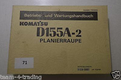 Komatsu Betriebs Und Wartungshandbuch Für D 155 A-2 Planierraupe Perfekte Verarbeitung MüHsam B071