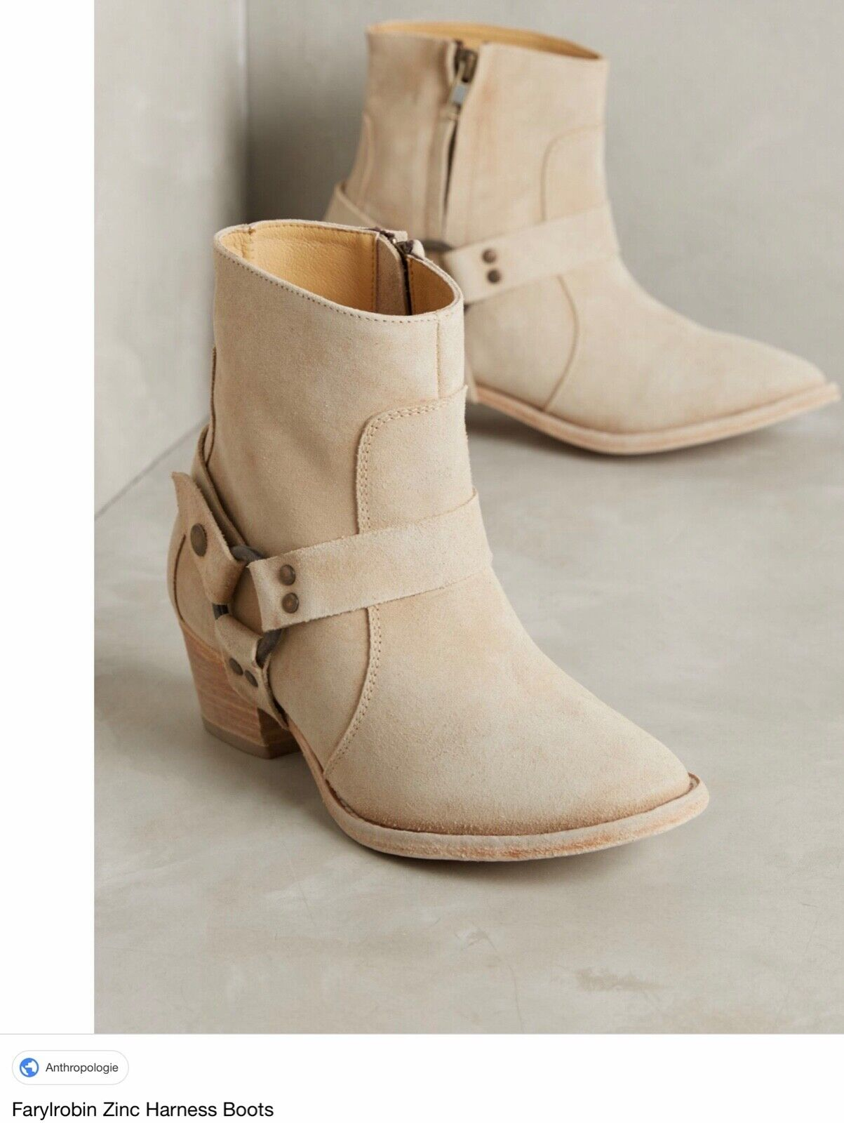 NEW NEW NEW Anthropologie Zinc Harness Boots Size 6.5 6da7e4