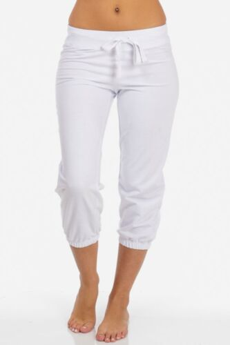Solid French Terry Drawstring Capri Lounge Sweat Pants Activewear FT8852