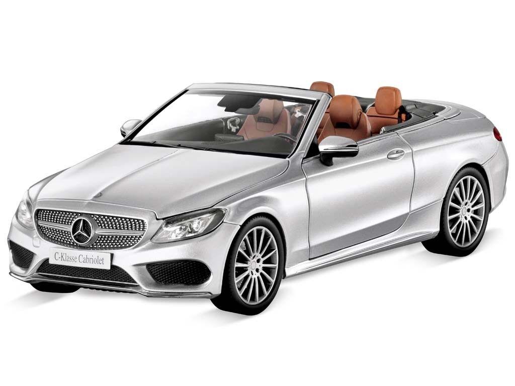 Mercedes-Benz Modelauto C-Klasse Cabrio A205 W205 AMG Line 1 18 irridium silber