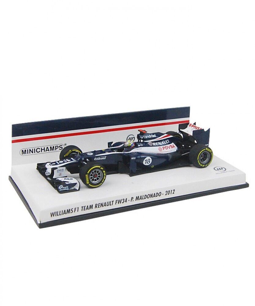 nuevo estilo Nuevo Nuevo Nuevo Minichamps 1 43 Williams F1 Team Renault FW34 P. Maldonado 2012 de Japón  Precio por piso