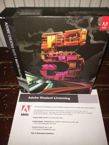 ADOBE Creative Suite CS5 MASTER COLLECTION for Mac Inc Photoshop etc