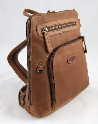 LandLeder City-Bag Biker-Rucksack Rind-Leder Daybag Damen-Schulter-Tasche 1670