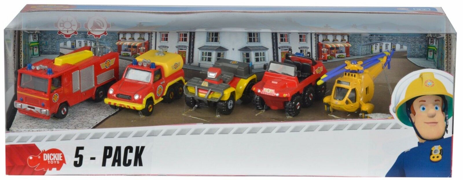 Modelo de coche vehículo vehículo vehículo de bomberos Fireman Sam Paquete de 5 Conjunto de Regalo 1 64. 3.14 pulgadas Caja de Metal 4abe4c