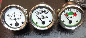 Massey-Oil-Pressure-Female-Temp-Amp-Gauge-Set-TE20-TO20-TO30-T035-F40-Tractor