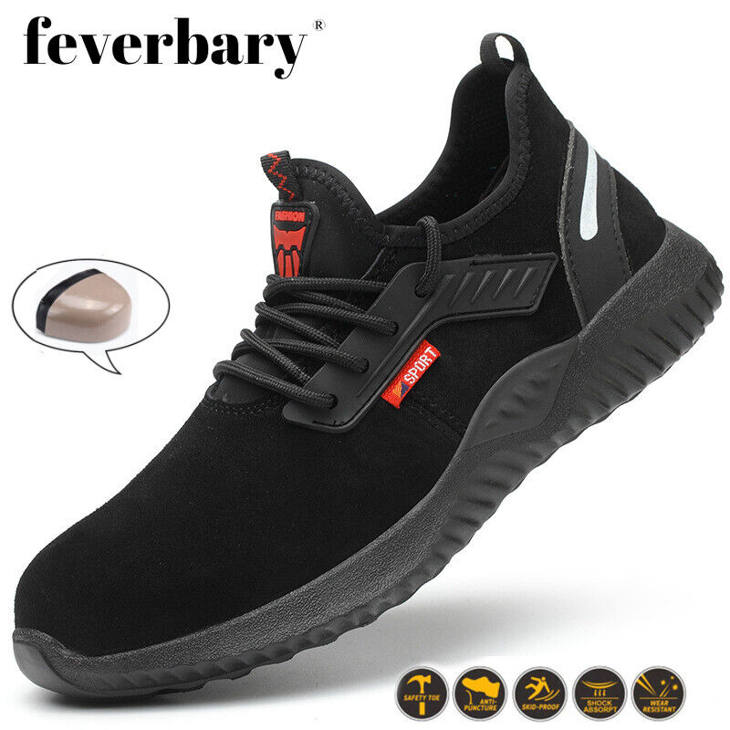 Mens Safety Shoes Steel Toe Trainers Suede Work Winter Boots Hiking Sneakers