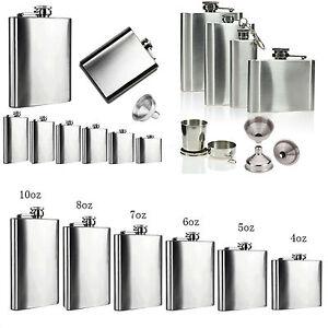 Stainless-Steel-Hip-Liquor-Whiskey-Alcohol-Flask-Cap-6-8-18oz-Pocket-Wine-Bottle
