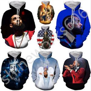 Women-Men-3D-Print-singers-Nipsey-Hussle-Casual-Hoodie-Sweatshirt-Pullover-Tops