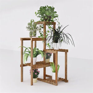 Corner-Garden-Plant-Stand-Wood-Multi-Tiered-Flower-Display-Rack-Shelf-for-Patio