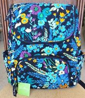 Vera Bradley Double Zip Backpack Book Bag Midnight Blues Is Brand With Tag