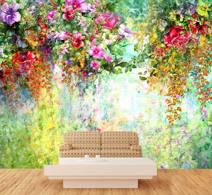 3D Painting Flowers 74 Wall Paper Murals Wall Print Wall Wallpaper Mural AU Kyra