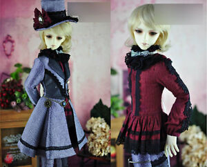 1//3 BJD SD13 60-62cm boy doll clothes outfit gothic black shirt dollfie luts