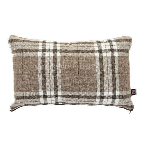 Designer Tartan Checked Pattern Fabric Cushion Filled Cushions British Handmade