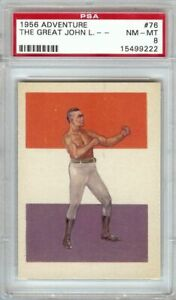 John-L-Sullivan-1956-Gum-Adventure-Vintage-Boxing-Card-Graded-PSA-NM-MT-8-76